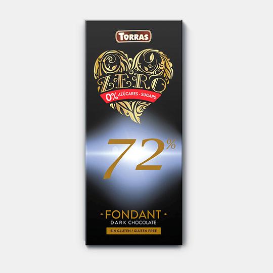 Barra de Chocolate Zero Torras - 72%