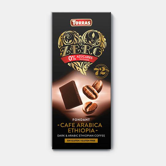 Barra de Chocolate Zero Torras - Cafe Arabica Ethiopia
