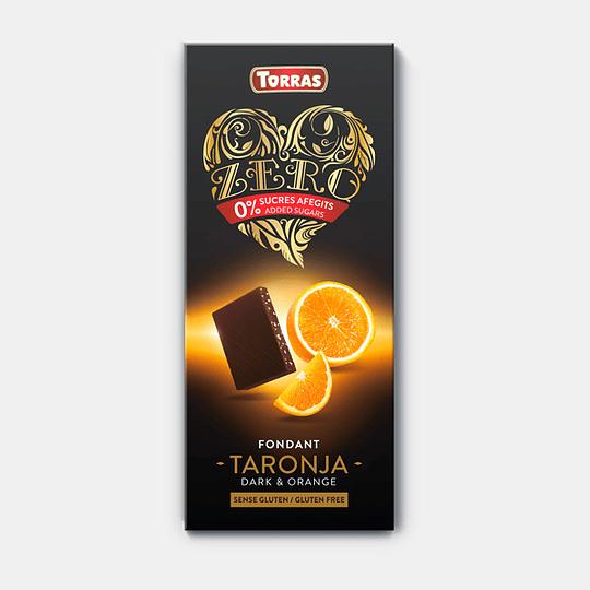 Barra de Chocolate Zero Torras - Naranja