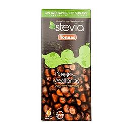 Barra de Chocolate Stevia Torras - Negro con Avellanas