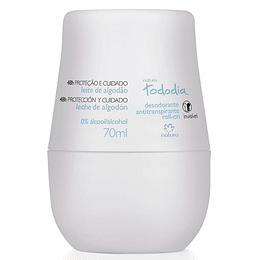 Desodorante Antitranspirante Leche de Algodón Roll-on Tododía, 70ml - Natura