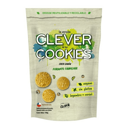 Clever Cookies (formato familiar, 150g) - Coco Limón