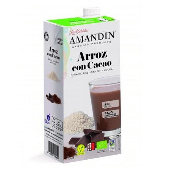 Bebida Orgánica Arroz Cacao, Amandin - 1 litro