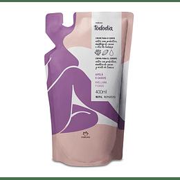 Repuesto Crema Nutritiva para Cuerpo Avellana y Casis, 400ml - Natura