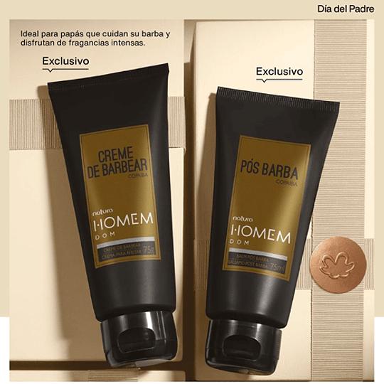Pack Masculino: Crema para Afeitar + Bálsamo Post Afeitado - Homem Dom, Natura
