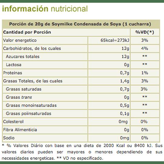 Leche Condensada Vegetal Soymilke