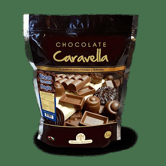 Cobertura en Discos Chocolate Negro - Caravella