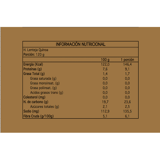 Hamburguesa Katana: Lentejas