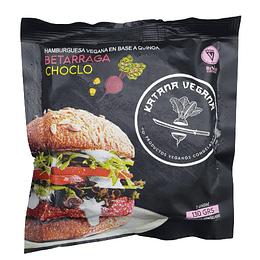 Hamburguesa Katana: Betarraga + Choclo