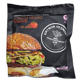 Hamburguesa Katana: Poroto Negro + Salsa de Tomate Natural