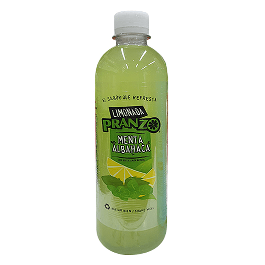 Limonada Menta Albahaca 475ml - Pranzo (botella plast.)