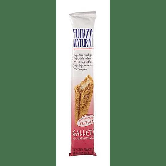 Galleta con Relleno Sabor Frutilla - Fuerza Natural