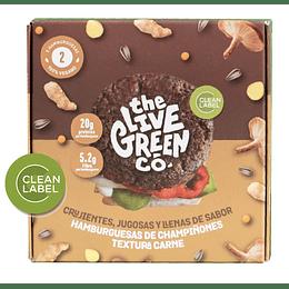 Hamburguesas de Champiñones Textura Carne - The Live Green Co