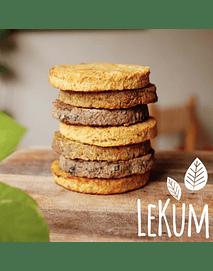 Hamburguesas Grandes: Porotos Negros con Quinoa - Lekum (2 unid)