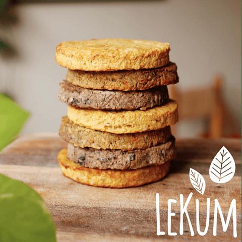 Hamburguesas Lekum 2 un: Porotos Negros con Quinoa