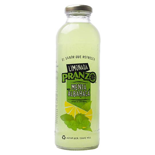 Limonada Menta Albahaca 475ml - Pranzo (botella vidrio)