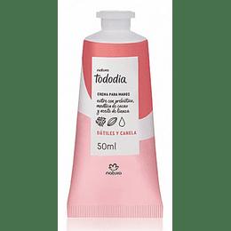 Crema Para Manos Dátiles Y Canela 50ml, Tododia - Natura