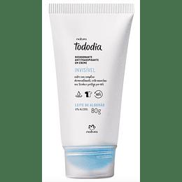 Desodorante Antitranspirante en Crema Tododía, Leche de Algodón 80g - Natura