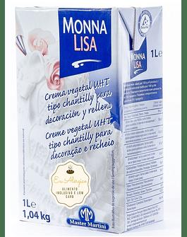 Crema Vegetal UHT tipo Chantilly (1 litro) - Monna Lisa