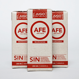 Pack 3 Jugos AFE - Manzana (200ml)