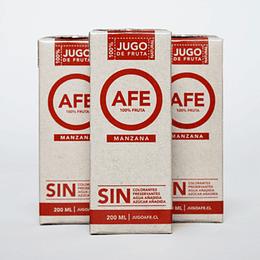 Pack 3 Jugos AFE - Manzana (200ml)