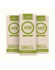 Pack 3 Jugos AFE - Pera (200ml)
