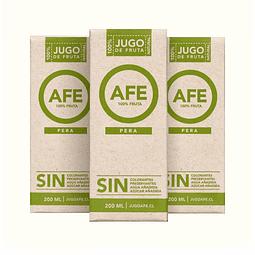 Pack 3 Jugos AFE - Pera (200ml)