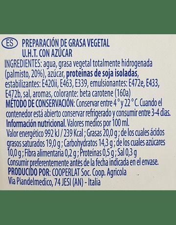 Crema Vegetal tipo Chantilly (1 litro) - Professional Crem