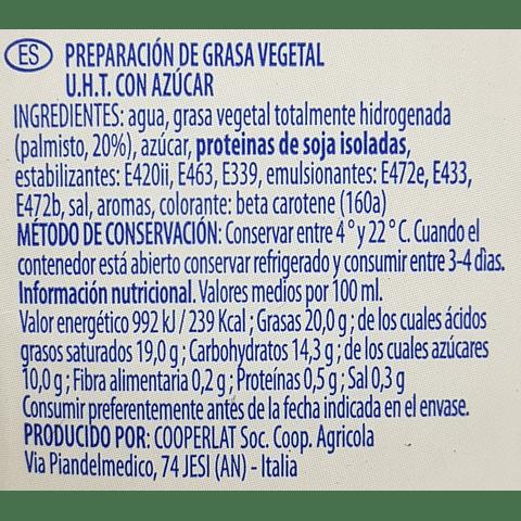 Professional Crem 1 litro (crema vegetal tipo chantilly)