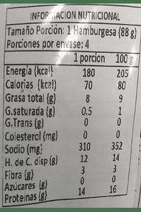 Gardein Hamburguesas sabor Pollo (4 unidades)