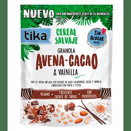 Tika Cereal Salvaje Grande: Avena - Cacao & Vainilla 200g