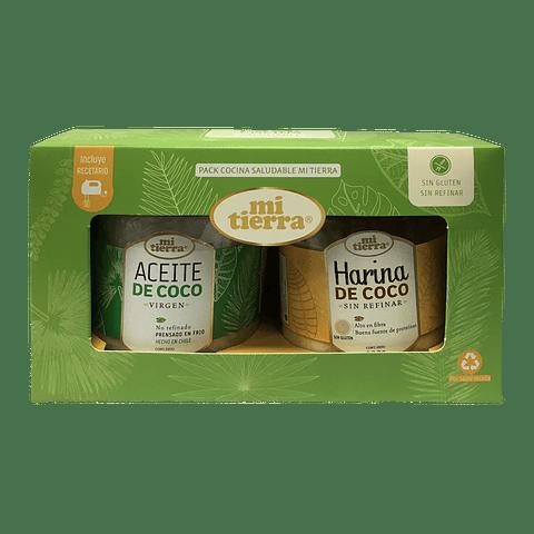 Pack aceite de coco 350 grs + harina de coco 200 grs - Mi Tierra