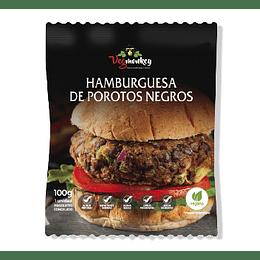 Hamburguesa de Porotos Negros - Vegmonkey
