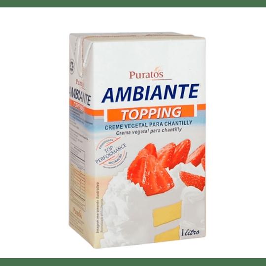 Crema Puratos 1 litro (crema vegetal tipo chantilly)