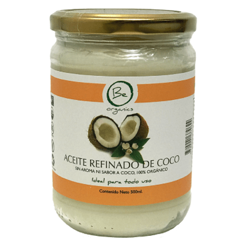 Aceite refinado de Coco 500g - Be Organics