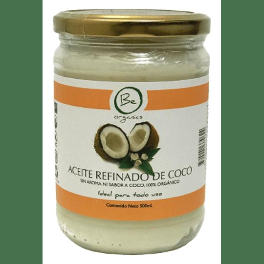 Aceite refinado de Coco Sin Aroma ni Sabor 500ml - Be Organics