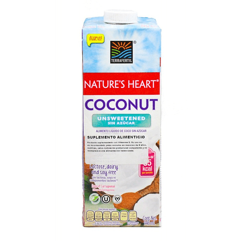 Bebida de Coco Sin Azúcar 946ml - Nature's Heart