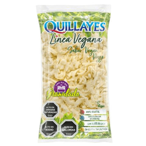 Queso Vegetal Mozzarella Granulado 200g - Quillayes