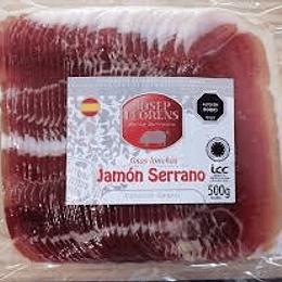 Jamon Serrano laminado 500g - Josep Llorens