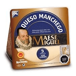 Queso Manchego Cuña 200g - Maese Miguel