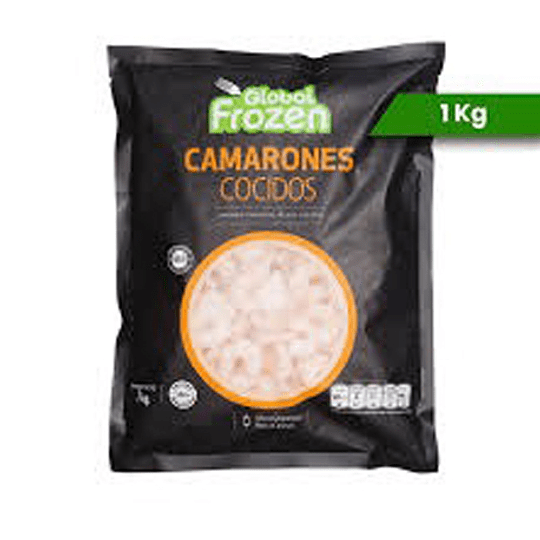 Camarones Cocidos Calibre 100/200 1kg - Global Frozen