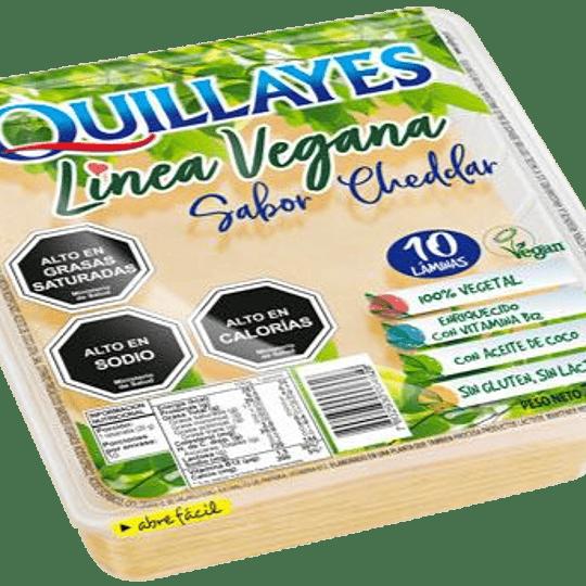 Queso Vegetal Cheddar Laminado 200g - Quillayes