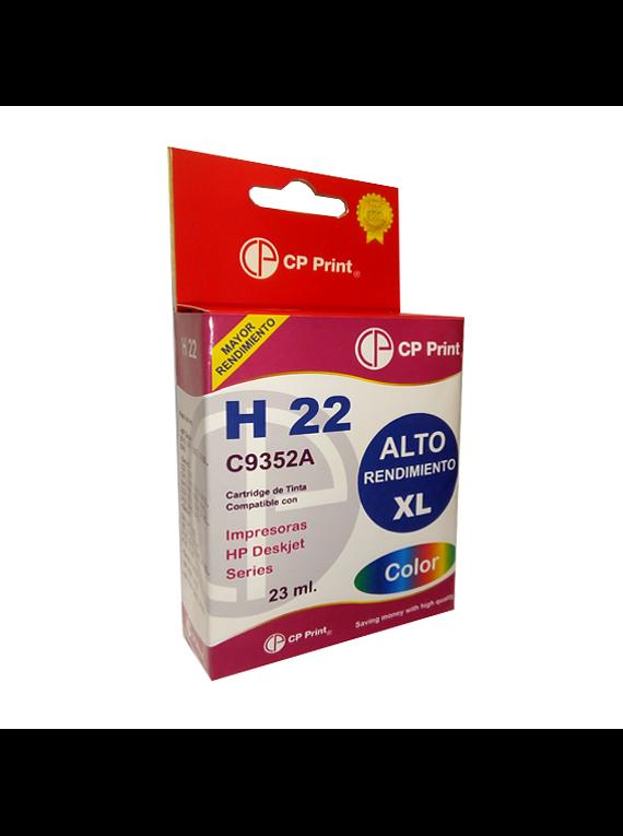 HP 22 XL Color Tinta Alternativa Gold