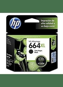 HP 664XL BLACK   ALTO RENDIMIENTO   Tinta Original