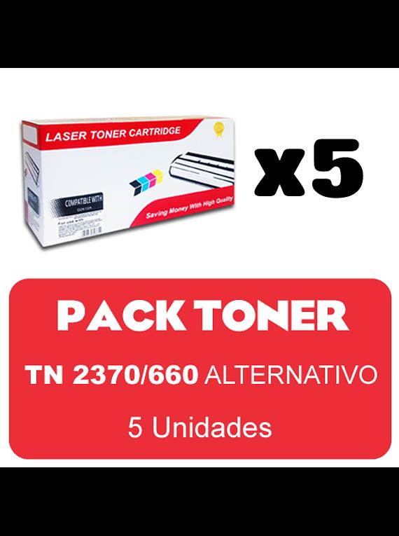 BROTHER TN2370/660 X 5 Pack Alternativo