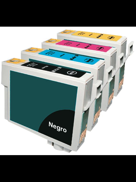 EPSON  TO73 PACK X 4 Cartridges Alternativo