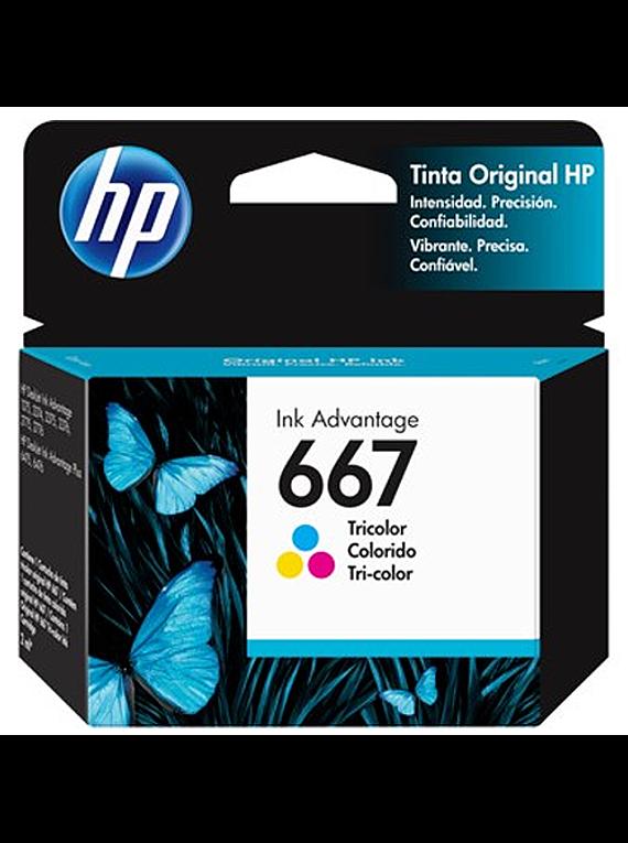 HP 667 TRICOLOR | Tinta Original
