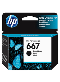 HP 667 BLACK | Tinta Original