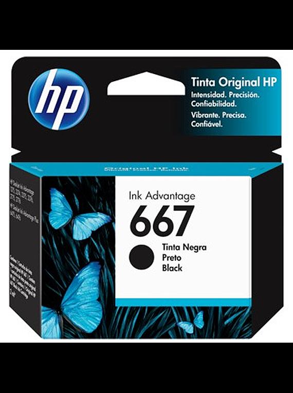 HP 667 BLACK   Tinta Original