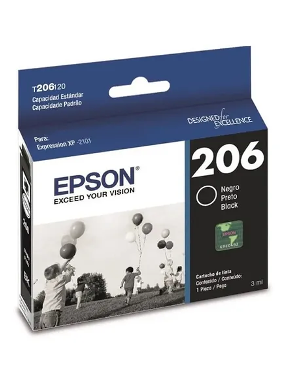 EPSON 206 Black XPRESSION XP-2101 Original